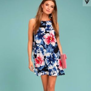 Lulus Hawaiian floral dress